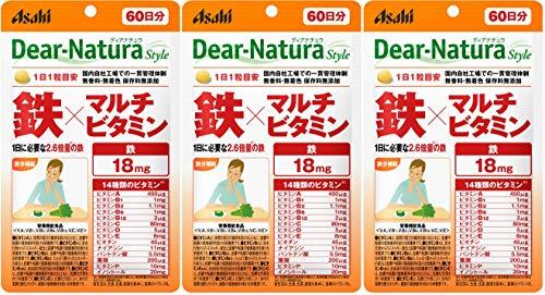 ディアナチュラスタイル 鉄×マルチビタミン 60粒 (60日分) ×3袋