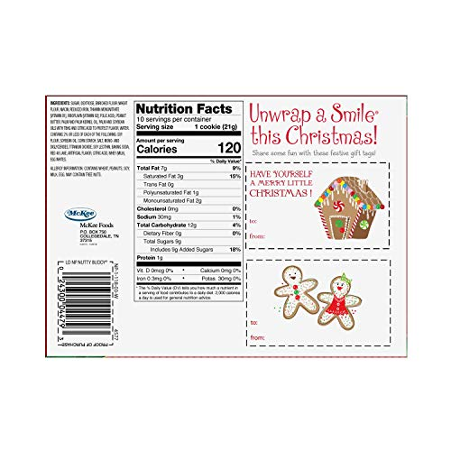 Little Debbie North Pole Nutty Bars Wafer Bars, 10Count