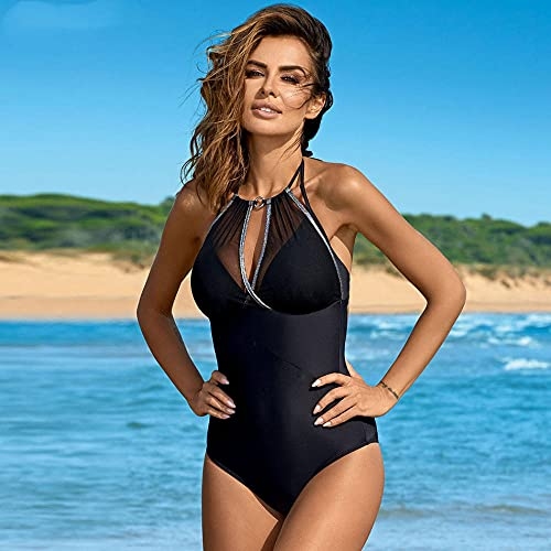 Bikinis Bañador Mujer Nuevo Traje De Baño Sexy De Una Pieza De Talla Grande Traje De Baño Push Up Trajes De Baño De Verano Ropa De Playa Traje De Baño para Mujeres XXL-Black_3XL