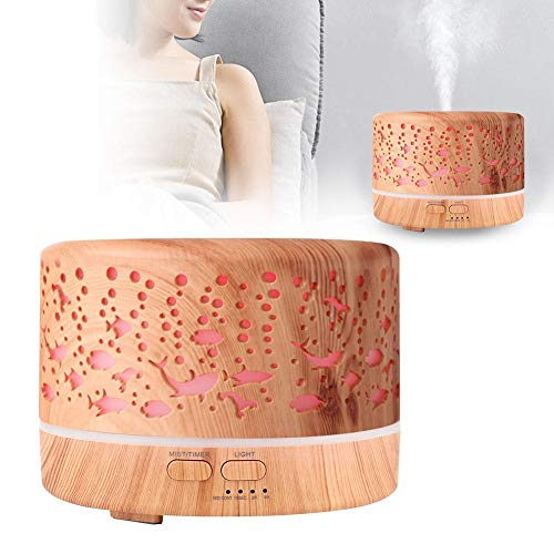 Redxiao Luftbefeuchter für aromatische ätherische Öle im Haushalt, Aromadiffusor, Wohnzimmer Baby LED Nachtlicht(110~240V, European Standard)