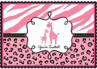 Sweet Safari Girl-Postcard Invitations