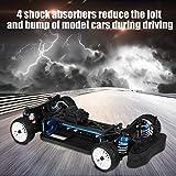 Voiture télécommandée, voiture télécommandée à essence à grande vitesse, 4 roues motrices avec pneus, voiture de véhicule électrique à l'échelle 1:10, cadeau de passe-temps cadeau pour adultes et enfa