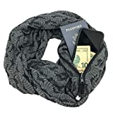 SHOLDIT - The Original Convertible Infinity Scarf with Pocket/Clutch Purse, MYSTIC Grey