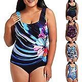 YLLQXI Bikini Sets, 2021 Tankini Schwimmkleid Mode Badeanzug Übergröße Beachwear Gepolsterte Bademode Urlaub Bikini Badekleid Große...