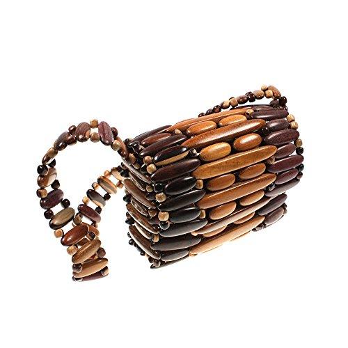 Handtasche Schopper Damenhandtasche Schultertasche Tasche Holz HHT6