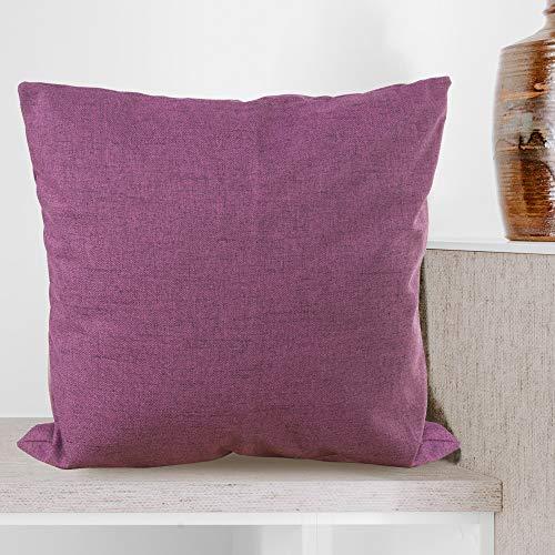 BCASE Funda Cojin Lino 45x45 cm, Funda Cojin Decorativa, Cómoda y Moderna para Habitación, Sofá, Cama etc Color Morado