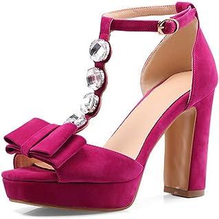 BalaMasa Womens ASL06646 Pu Platform Heels