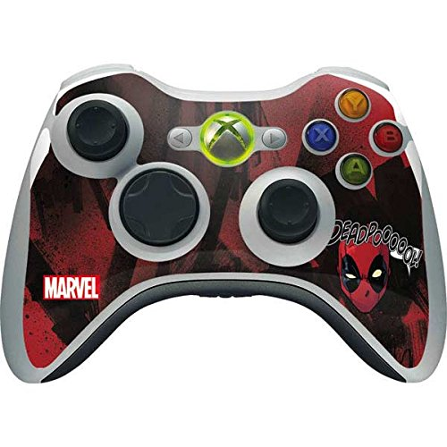 Skinit Decal Gaming Skin Compatible with Xbox 360 Wireless Controller - Officially Licensed Marvel/Disney Deadpool Howl Design