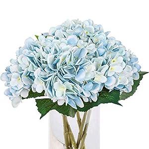 Tifuly 5PCS Artificial Hydrangea Silk Flower Single Stem Faux Hydrangea Bouquets for Party Wedding Centerpieces Home Decor