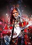 HONGSHUAI Neil Young Dark bg Leinwanddruck für Wohnzimmer