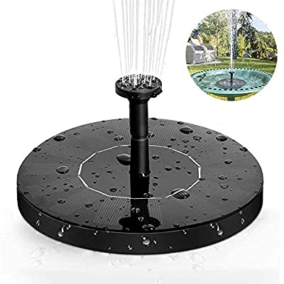 ANSGEC Solar Fountain Pump 1.4W Solar Water Pump with 6 Attaches Floating Solar Panel Solar Powered Fountain Pump for Pond, Fountain, Bird Bath, Garden Decoration, Fish Tank by ANSGEC