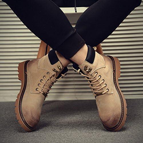 HL-PYL-Martin botas botas altas botas All-Match Mate ayuda masculina coreaño,38,Color arena