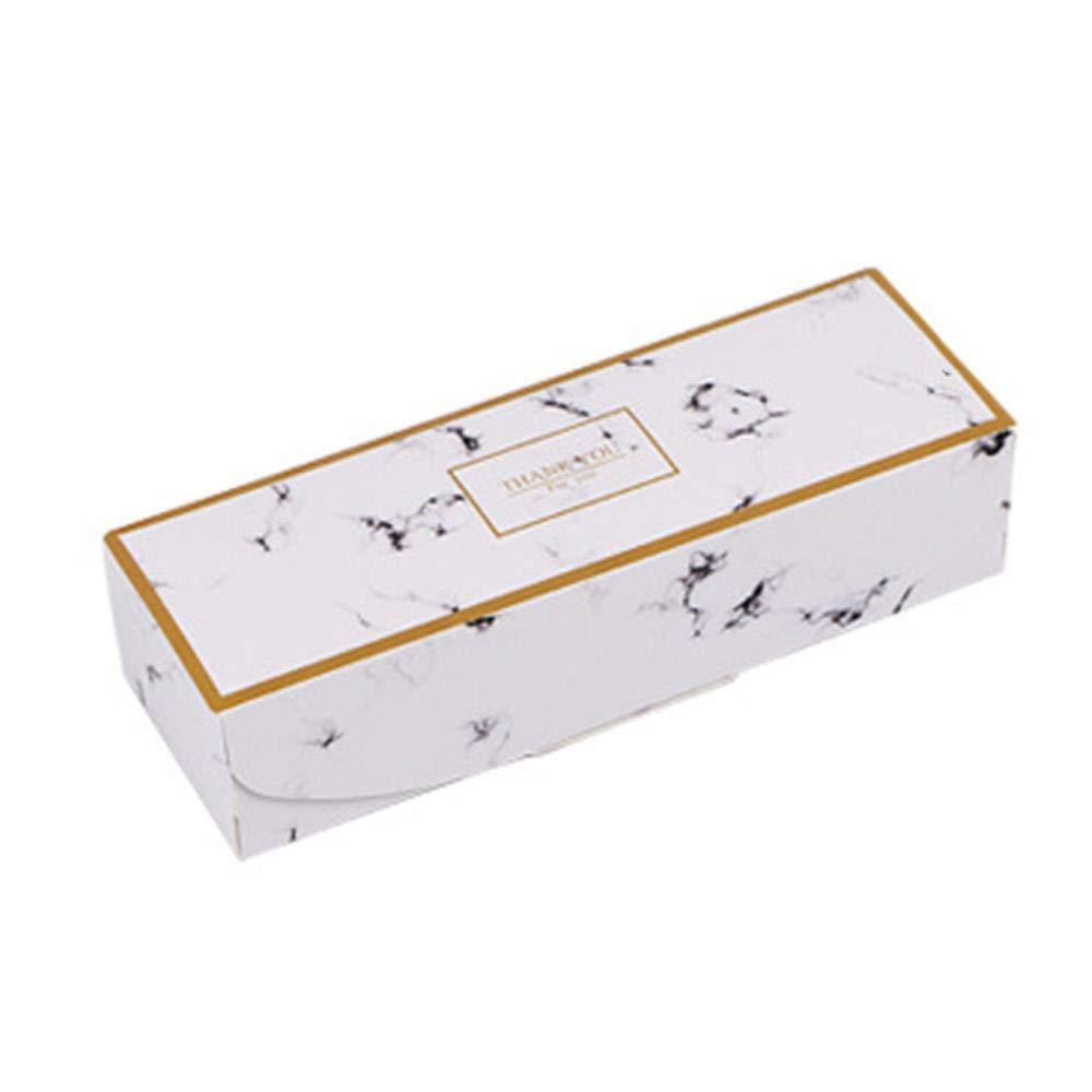 Caja de Regalo de Plumas de mármol y turrón para Galletas, Dulces, piñas, Tartas, Papel de Hornear, Cajas de cartón para cumpleaños, Fiestas, Bodas, Bolsas de Regalo: Amazon.es: Hogar