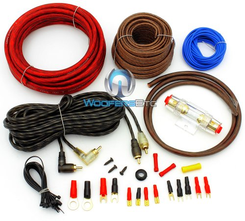 PK8 - Focal Audio 8 AWG (Gauge) Performance Series Power Amplifier Wiring Kit