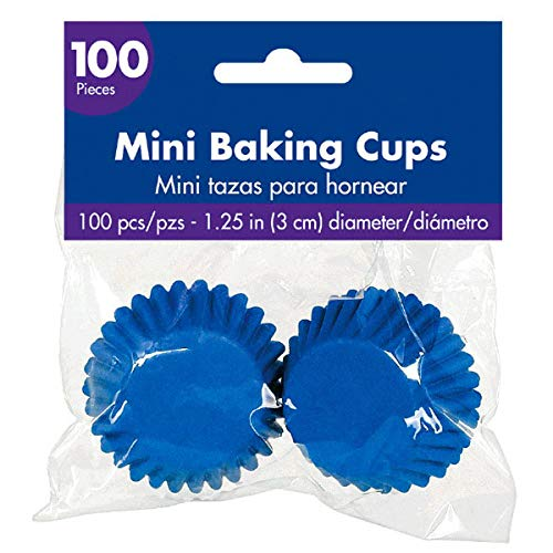 mini baking cups blue - 1
