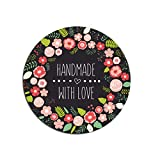 50 Sticker Handmade, Aufkleber Handmade, Made with Love Sticker