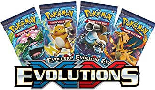 Unbranded Pokemon TCG: XY Evolutions Sealed Booster Pack of 3