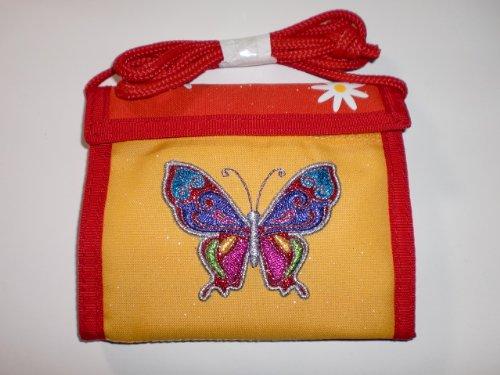 """Geldbeutel /""""Schmetterlinge/"""" mit Gravur Geldbörse Kinder Brustbeutel"""