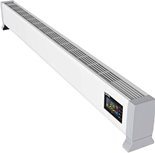 GXDHOME Calentador de zócalo Convector Radiador de Calefacción, Calefacción Eléctrica for El Baño, Oficina, Dormitorio Calentadores convectores (Color : White, Size : 2500W)