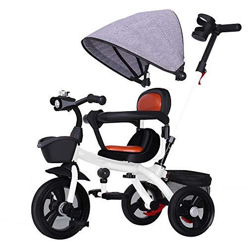 YumEIGE 3 cycli voor kinderen in de leeftijd van 1-6 kinderwagen, maximale belasting 50 kg, aanbevolen van 31,4 inch tot 47,2 inch Wit.