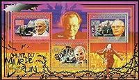 ベルリンの壁崩壊30年/ ギニア2009年3種連刷シート ゴルバチョフ・ローマ法王・ドイツ