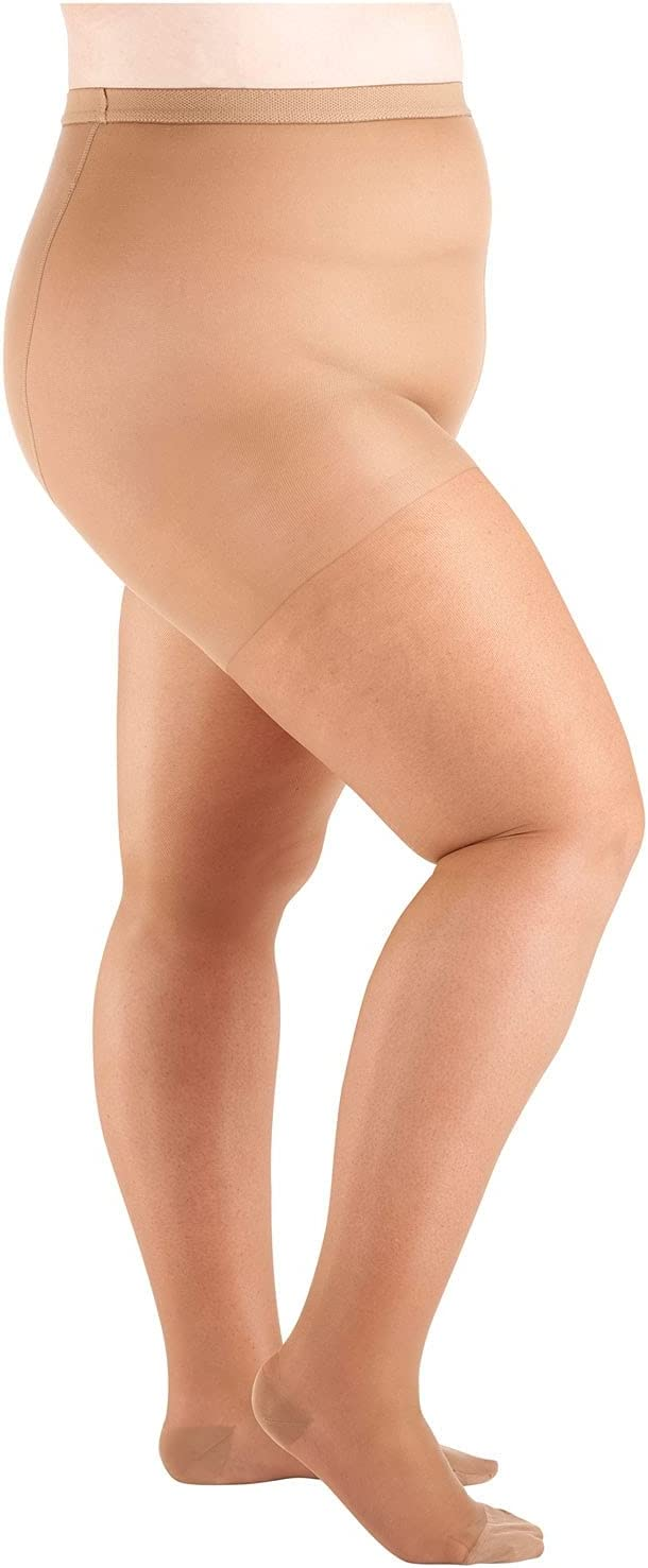 Women's Moderate Compression Pantyhose - Support Plus - Taupe - Queen