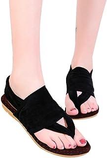 AIMTOPPY HOT Sale, Large size Women Bohemia Platform Shoes Woman Flats Footwear Shoes Beach Flip-Flop Shoes (US:8, Black)