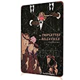 Les TRIPLETTES DE Belleville Cartel de película Metal Retro Cartel de Chapa Bar Tienda Cocina Divertida Decoración de Pared Carteles de Garaje 8X12 Pulgadas