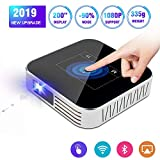 Retrolife Mini Projector Portable 2019 Upgraded DLP 2500 Lumens Full HD 1080P 200″Supported,...