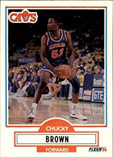 1990 Fleer Update Basketball Rookie Card (1990-91) #U16 Chucky Brown
