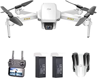 GoolRC Mini Pro Drone with Camera S161,Foldable FPV Drone with 4K HD Camera, Optical Flow Positioning RC Quadcopter with G...