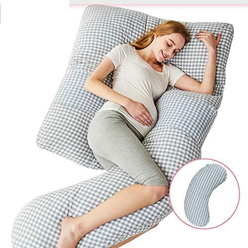 SHYPwM Forma G Almohada Mujer Embarazada Dormir de Lado Lado Extraíble Multifuncional Soporte for la Cintura Tranquilo y cómodo, Maternidad ergonómica, Almohada Larga/Almohada Lumbar (Disponible en