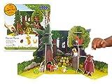 PLAYPRESS El juego de Gruffalo Pop-Out. Incluye la casa de las copas de los árboles del búho, la casa subterránea de Fox, la pila de troncos de serpiente y todos los personajes
