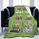 Wrenho Baby Flannel Blanket 3D Printed Ultra Soft Shaggy Throw Blanket All Season Warm Blanket Air Conditioner Cooling Blankets for Couch Sofa Bedroom 50'x40'