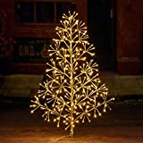 Lightshare 3ft 296L Artificial Christmas Tree Light,Warm White Light for Home Garden Decoration,Winter,Wedding,Birthday,Christmas,Holiday,Party Decoration,Gold