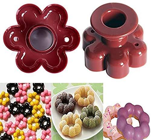 Lovelegis Stampo per Ciambelle - Forma di Fiore - Donut Cutter - Tagliare - Fare Forme - Dolci - graffe - Stampino da Forno - Diametro 8 cm - Colore Random