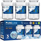 Pureline MWF Water Filter Replacement. Compatible with GE MWF And MWFP, MWFA, MWFAP, MWFINT, GWF, GWFA, HWF, HWFA, HDX FMG-1, Smartwater, WFC1201, GSE25GSHECSS, 197D6321P006 (3 Pack)