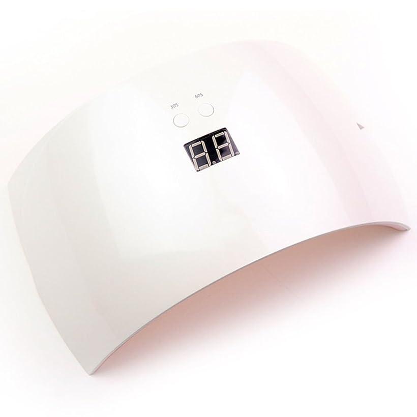 食物広告主鎖ネイル光線療法機 ネイルドライヤー - 24WプロフェッショナルLEDゲル光線療法速いヒーリング爪と爪ネイルジェルドライヤー爪ライトUV LEDネイルツールセット