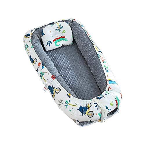 Cama nido, 100% algodón transpirable (0 – 24 meses), uso para niños y niñas, recién nacidos, portátil, cribs (color: A)