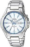Casio De los hombres 'Super Illuminator' Metal y acero inoxidable de cuarzo reloj Casual, color: plateado (modelo: mtp-e200d-7a2vcf)