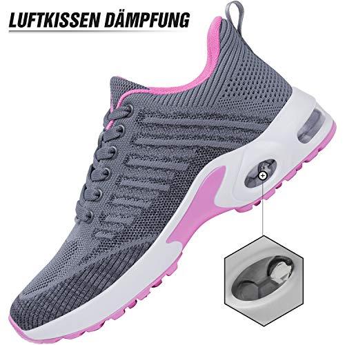 Mishansha Air Zapatos de Deportes Mujer Ligeros Zapatillas de Correr Femenino Respirable Calzado Fitness Jogging Sneakers Gris A, Gr.38 EU
