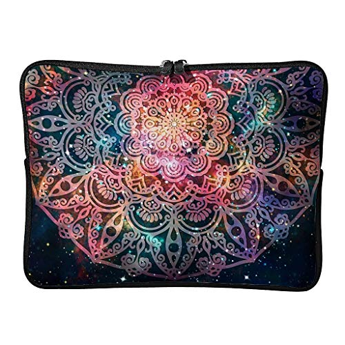 Regular Magical Laptop Bags Funny Water Resistant - Bohemian Laptop Case Suitable for Work White 15inch