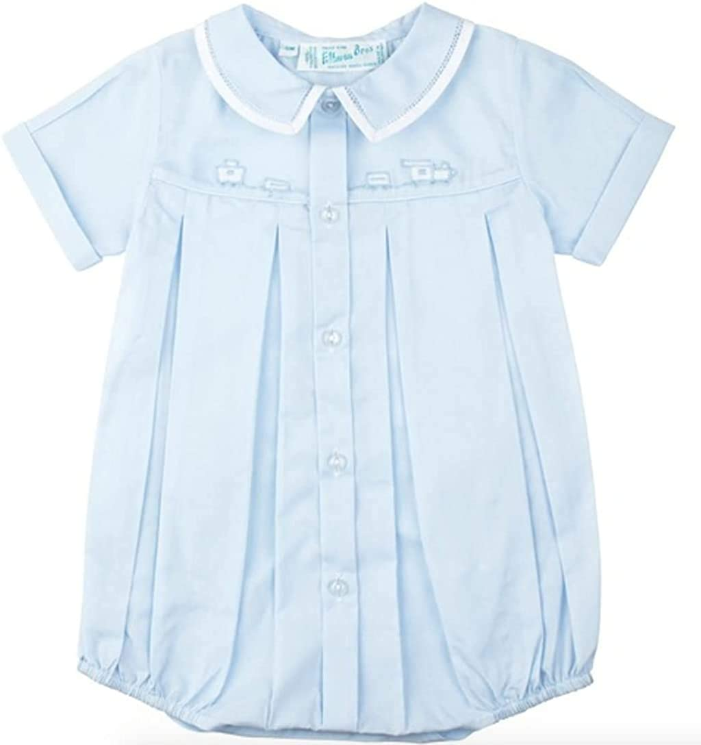 Feltman store Brothers Popularity Baby Boys Blue Outfit Bubble Layette Train