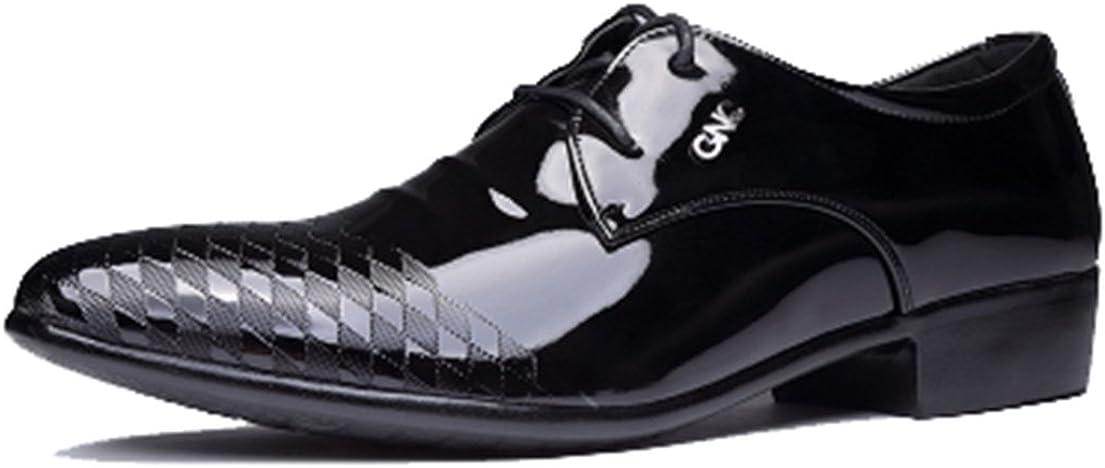 seaoeey Men's Business Casual Shoes Formal Wear Married Shoes Oxford Dress Walking