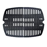 nobrand BBQ Grill Grate Matt Cast Iron Cooking Grate for Weber Q100/1000 Series, Compatible with Weber 7644, 7582