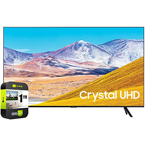 SAMSUNG UN65TU8000FXZA 65 inch 4K Ultra HD Smart LED TV 2020 Model Bundle with 1 Year Extended Protection Plan