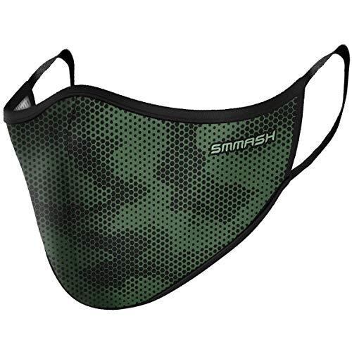 SMMASH Mundschutz Maske Wiederverwendbar, Hochwertiges Gesichtsmaske Waschbar, Multifunktional Trainingsmaske für Radfahren, Laufen, Staubschutzmaske für Damen, Herren (L/XL, MESH)