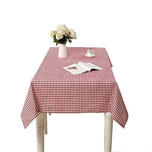 Couverture de table oblongue en lin avec nappe rectangulaire en lin anti-décoloration, décoration pour la cuisine, salle à manger, cour, café, fête, ou pique-nique,rose,130*180cm