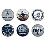 NFL Offizielle Dallas Cowboys Button, Anstecker, Pins als 6er Set -