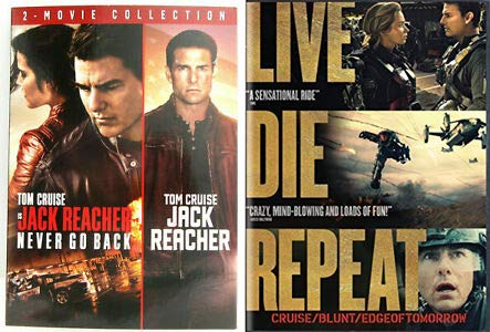 Call Him Mister Cruise Kicking Butt + Taking Names: Live Die Repeat: Edge of Tomorrow + Jack Reacher Double Feature (Jack Reacher   Jack Reacher: Never Go Back) 3 Movie DVD Bundle